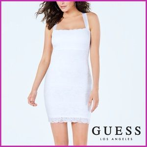 🏷 🆕 Guess Los Angeles White, Lace Mini Dress